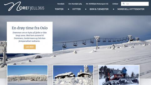 Bilde av hjemmesiden til Norefjell